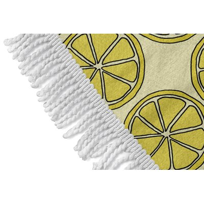 Round Yellow Beach Towel