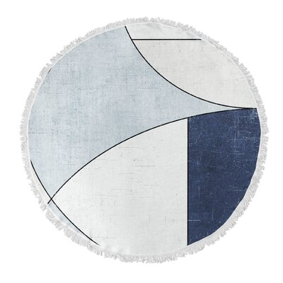 Round Blue/Ivory Beach Towel
