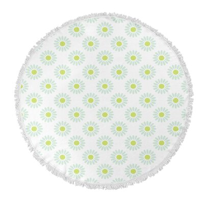 Round Green/Blue Beach Towel