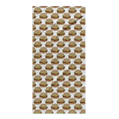Ziva Hamburgers Beach Towel