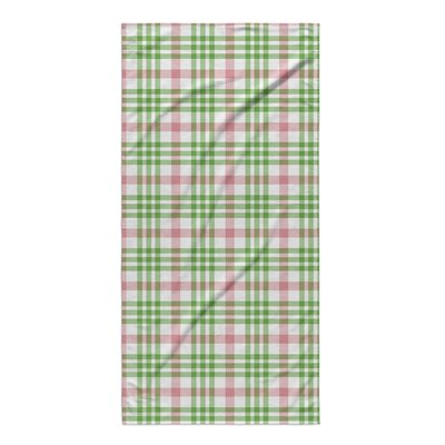 Pascual Plaid Red/Green Beach Towel