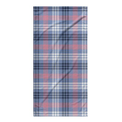 Plaid Pink/Blue Beach Towel