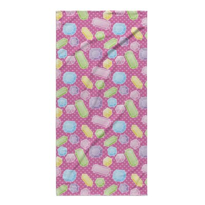 Pink Jewels Beach Towel