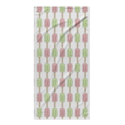 Garcia Green/Pink Beach Towel