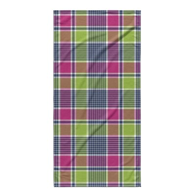 Zoelle Plaid Pink/Green Beach Towel