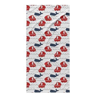Melton Navy/Red Beach Towel
