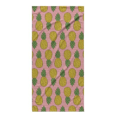 Brielle Pink/Yellow Beach Towel