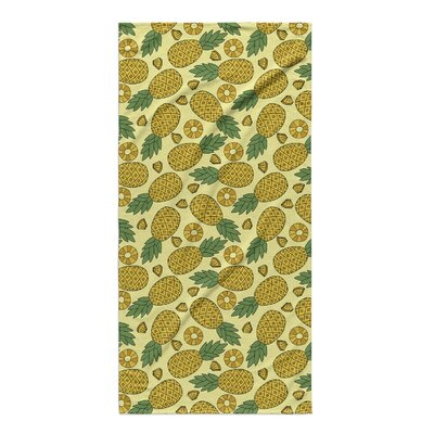 Brielle Rectangle Yellow Beach Towel