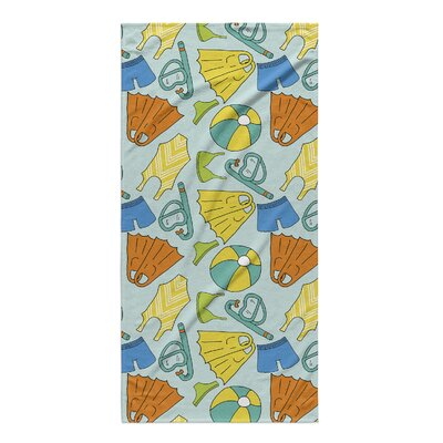 Rectangle Blue/Yellow/Brown Beach Towel