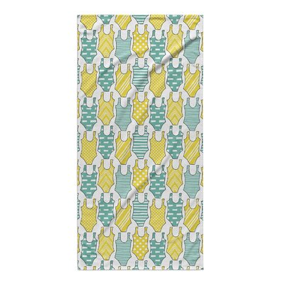 Turquoise/Yellow Beach Towel