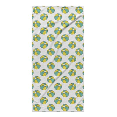 Rectangle Turquoise/Yellow Beach Towel