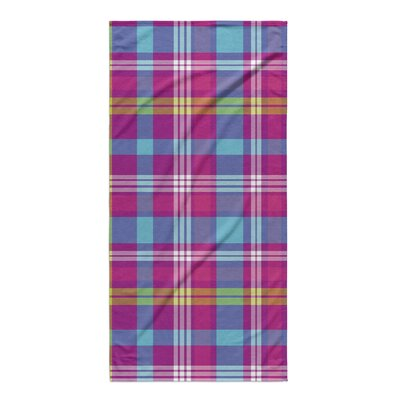 Harloe Plaid Purple/Blue Beach Towel