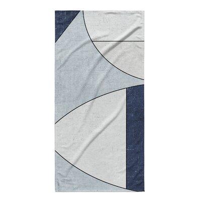 Blue/Ivory Beach Towel
