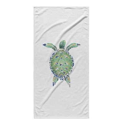 Green Turtle Beach Towel