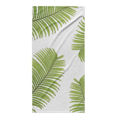 Rectangle Green/White Beach Towel