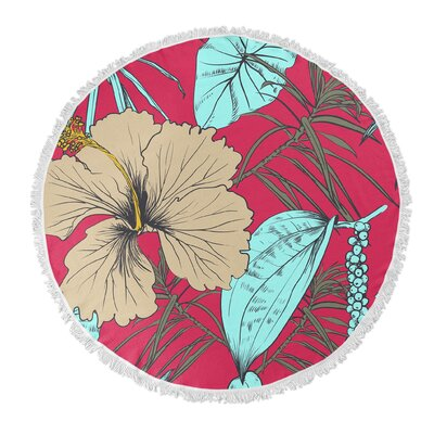 Tropical Blossom Beach Towel