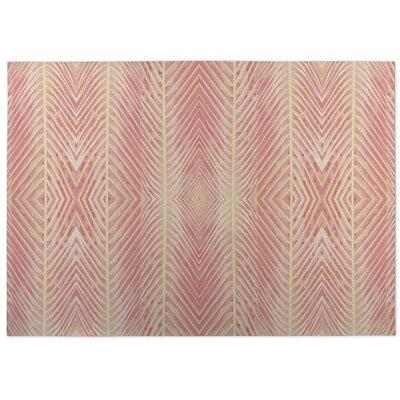 Aleah Palms Doormat Color: Pink/Orange