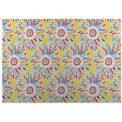 Barrientez Fun Floral Doormat Color: Yellow