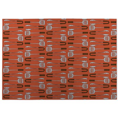 Ziva Orange Doormat