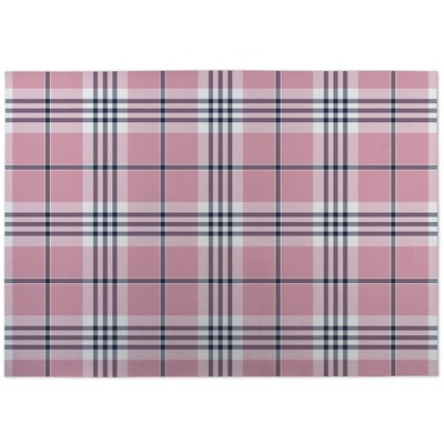 Montezuma Plaid Pink Doormat