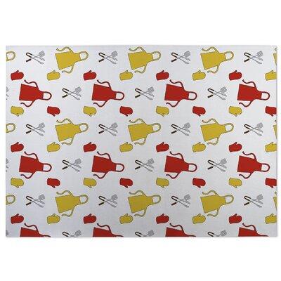 Ziva Red/Yellow Doormat
