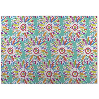 Barrientez Fun Floral Doormat Color: Green