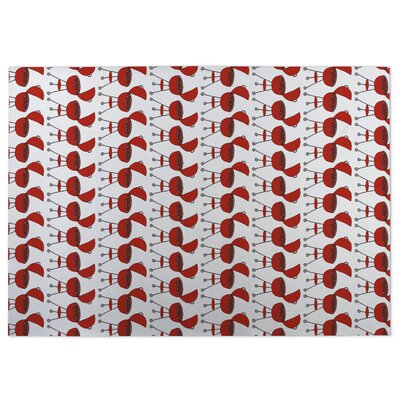 Ziva Rectangle Red/White Doormat