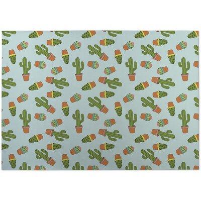 Rylie Cactus Doormat Color: Blue