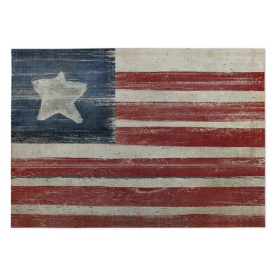 Haworth Rustic American Flag Doormat