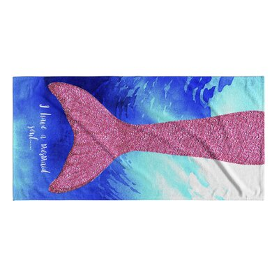 O Have A Mermaid Soul Pink/Blue Beach Towel