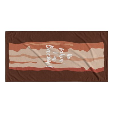 No Fakin Im Bacon Beach Towel