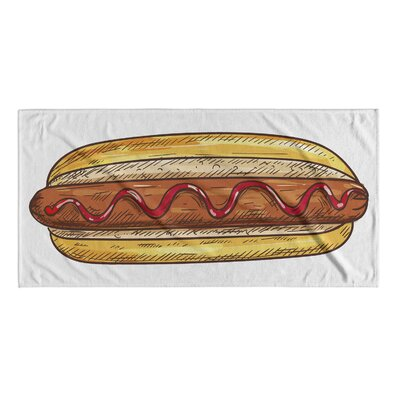 Hot Dog Beach Towel