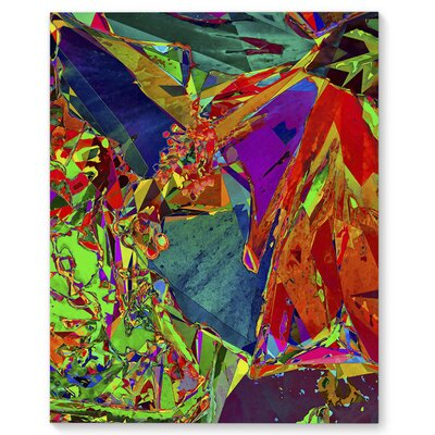 'Floral Life' Graphic Art Print on Canvas Size: 20