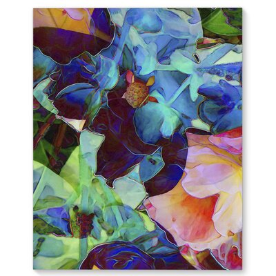 'Flowers for the Angels' Graphic Art Print on Canvas Size: 20