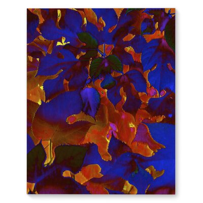 'Leaves' Graphic Art Print on Canvas Size: 20