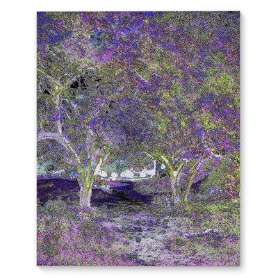 'Purple Tree Landscape' Graphic Art Print on Canvas Size: 20