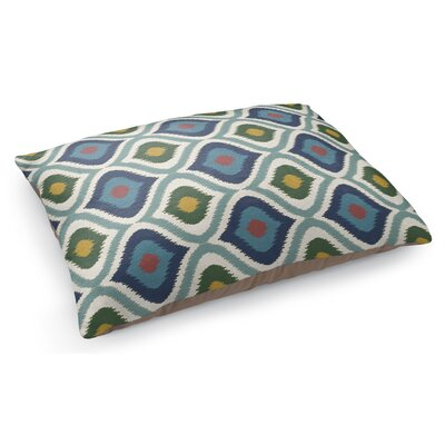 Ikat Ogee Pet Pillow Color: Green/Blue