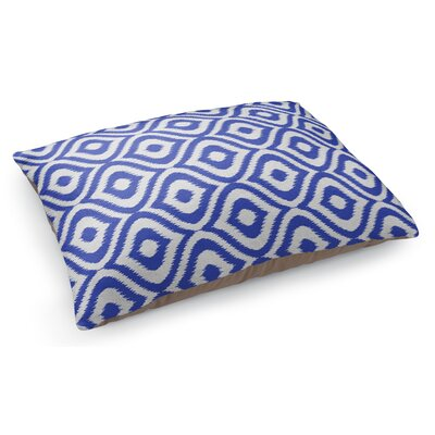 Ikat Ogee Pet Pillow Color: Blue/ Ivory