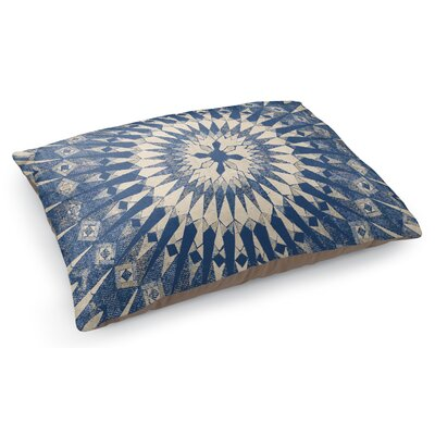 Moroccan Pet Pillow Color: Dark Blue/Ivory