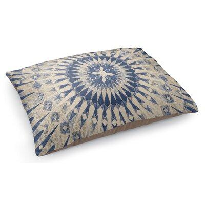 Moroccan Pet Pillow Color: Light Blue/Ivory