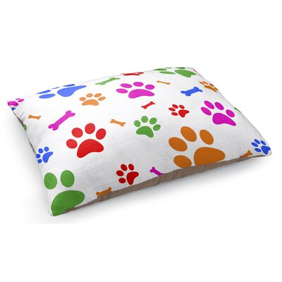 Paw Bone Pattern Pet Pillow