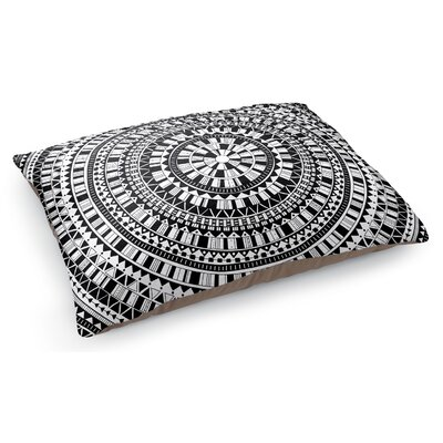 Mandala Pet Pillow Color: Black