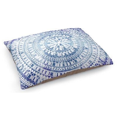 Mandala Pet Pillow Color: Blue