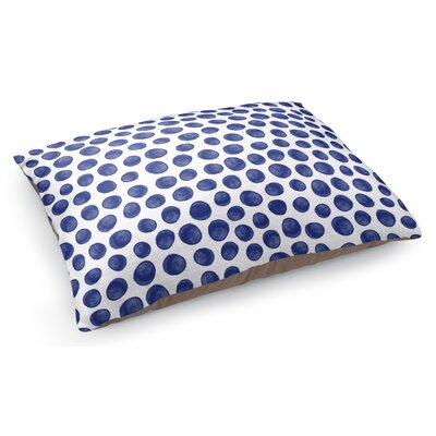 Paint Dot Pet Pillow Color: Indigo