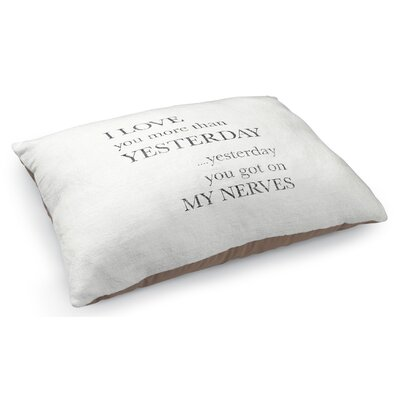 More Than Yesterday Pet Pillow