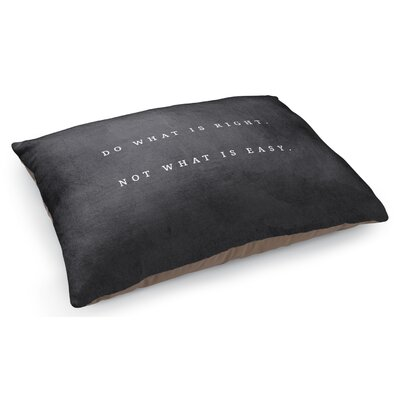 Do What is Right Pet Pillow