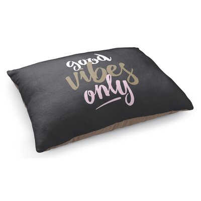 Good Vibes Only Black Pet Pillow
