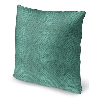 Mendez Turquoise Wood Throw Pillow Size: 16 H x 16 W x 6 D