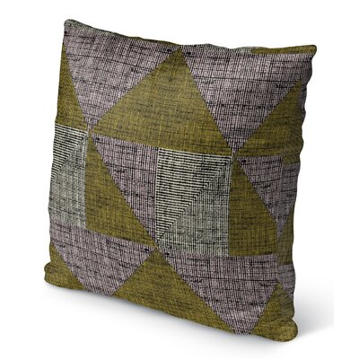 Wolfe Textured Triangles Indoor/Outdoor Throw Pillow Size: 16 H x 16 W x 6 D