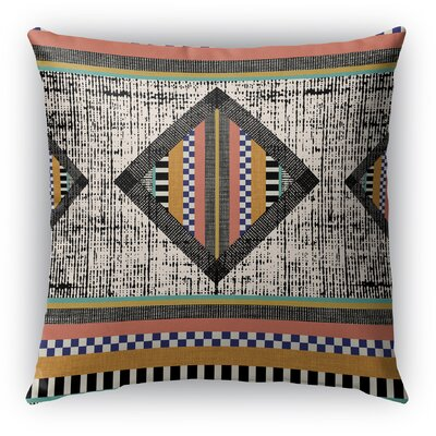 Wiggins Orange Indoor/Outdoor Throw Pillow Size: 18 H x 18 W x 6 D